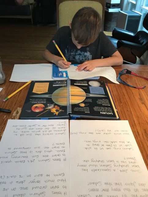 homeschool routine and projects